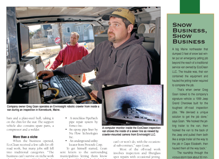 Greg Goan and his company EcoClean were last featured in the magazine in September 2008.