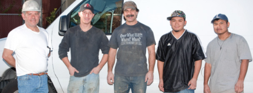 Farrell Brown (far left) with his crew back in 2009, when Sewer Line Video Inspection was last featured in the magazine.