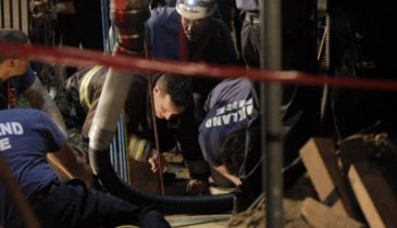 Rescue Crews Free Contractor Trapped in Sewer