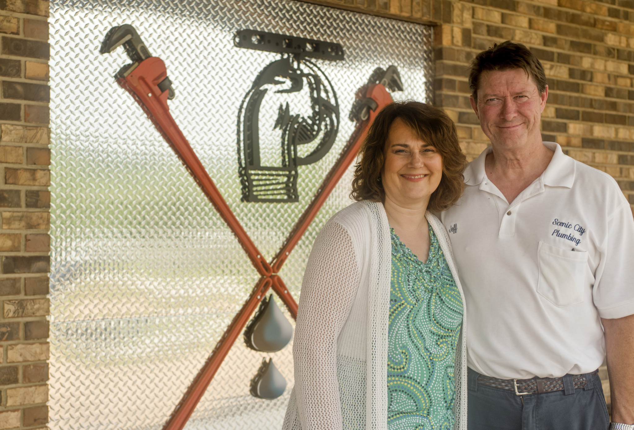 Jacqui and Jeff Logan, owners of Scenic City Plumbing in Hixson, Tennessee