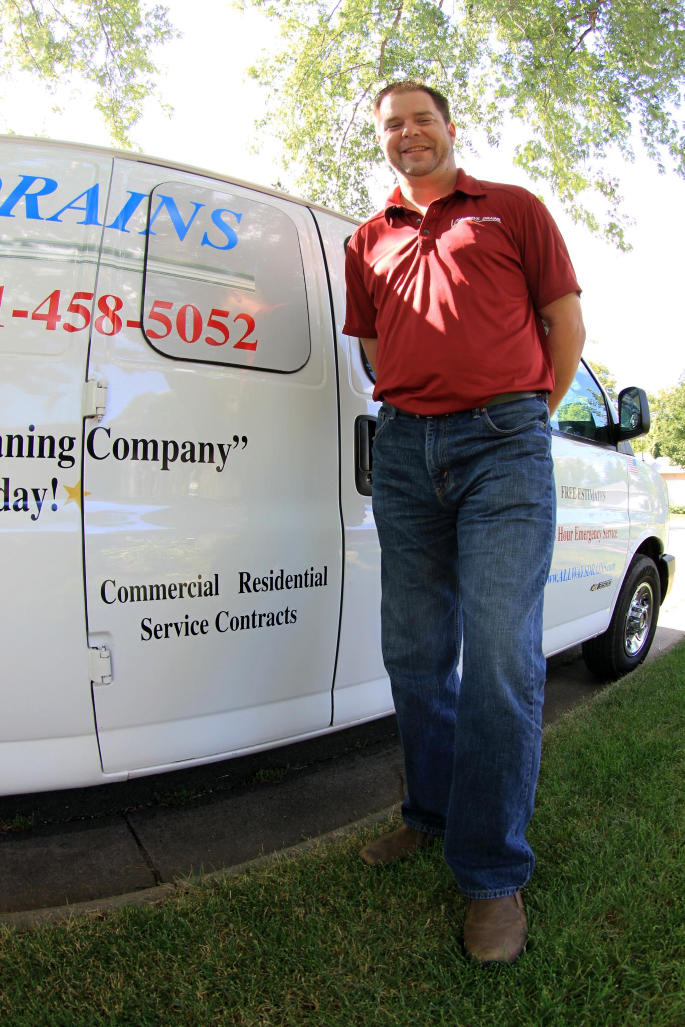 Justin Moe, owner of All Ways Drains in Minnesota.